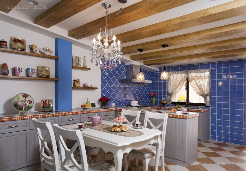 浪漫地中海风格餐厅装修效果图