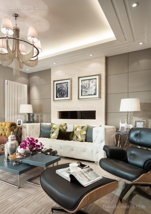 现代俏皮风格客厅装修效果图