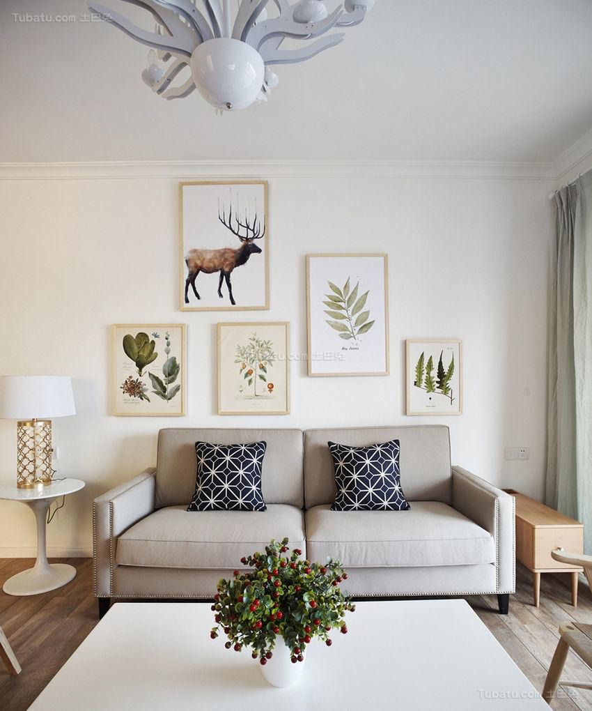 文艺主义简约一居室装修效果图
