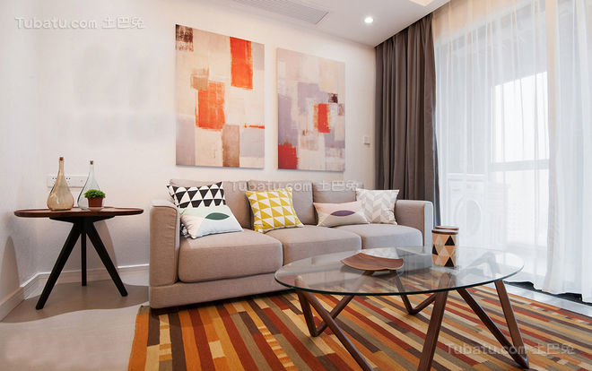 迷人宜家客厅装修效果图