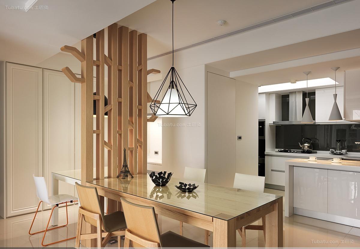 木质品位现代风餐厅装修效果图