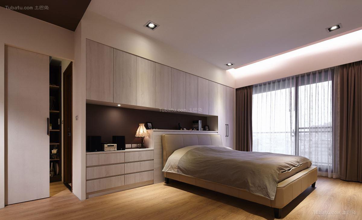 木质原色北欧卧室装修效果图