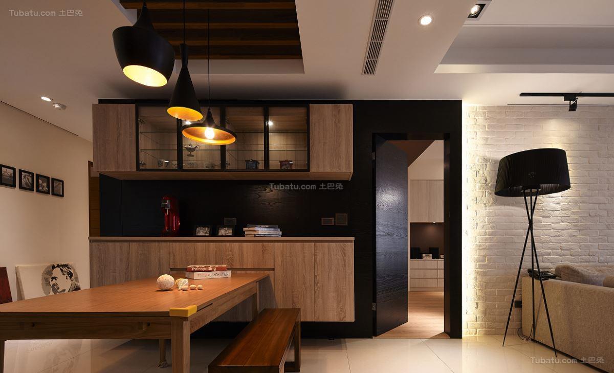 木质原色北欧二居室装修效果图