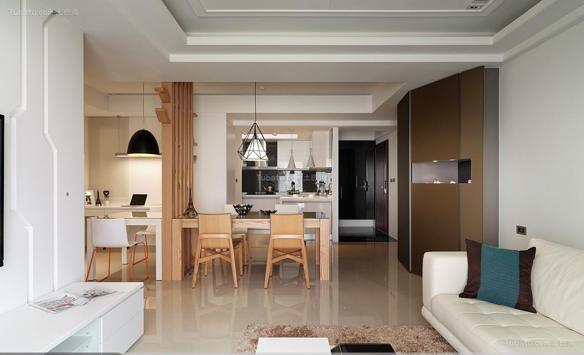 木质品位现代风一居室装修效果图