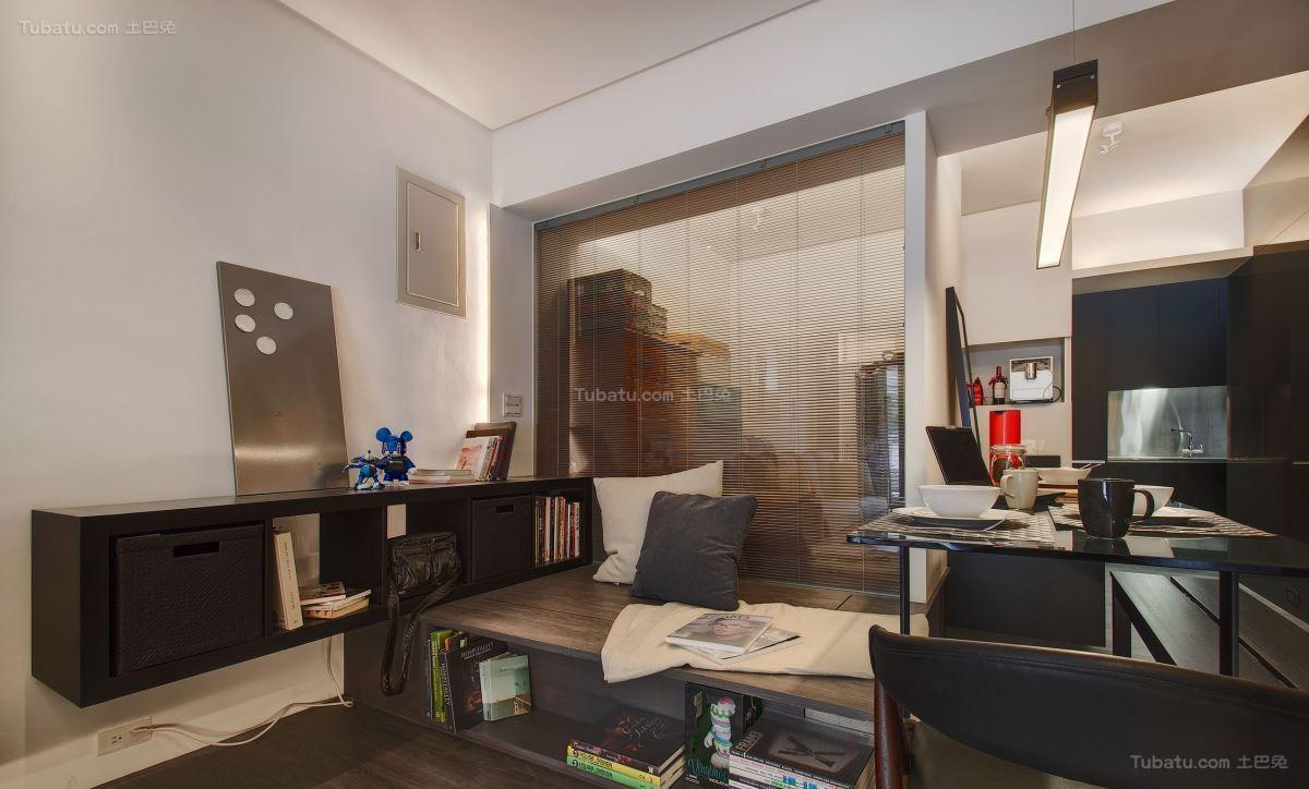 现代时尚元素化一居室装修效果图