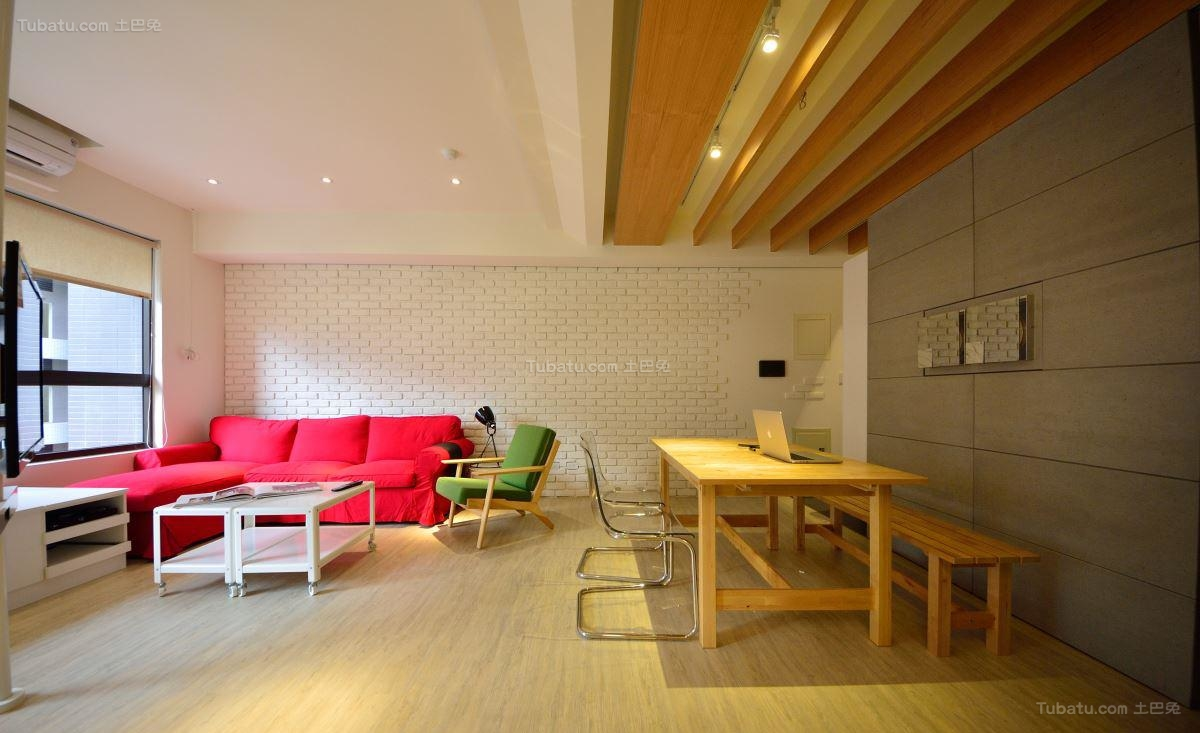 时尚创意休闲二居室装修效果图