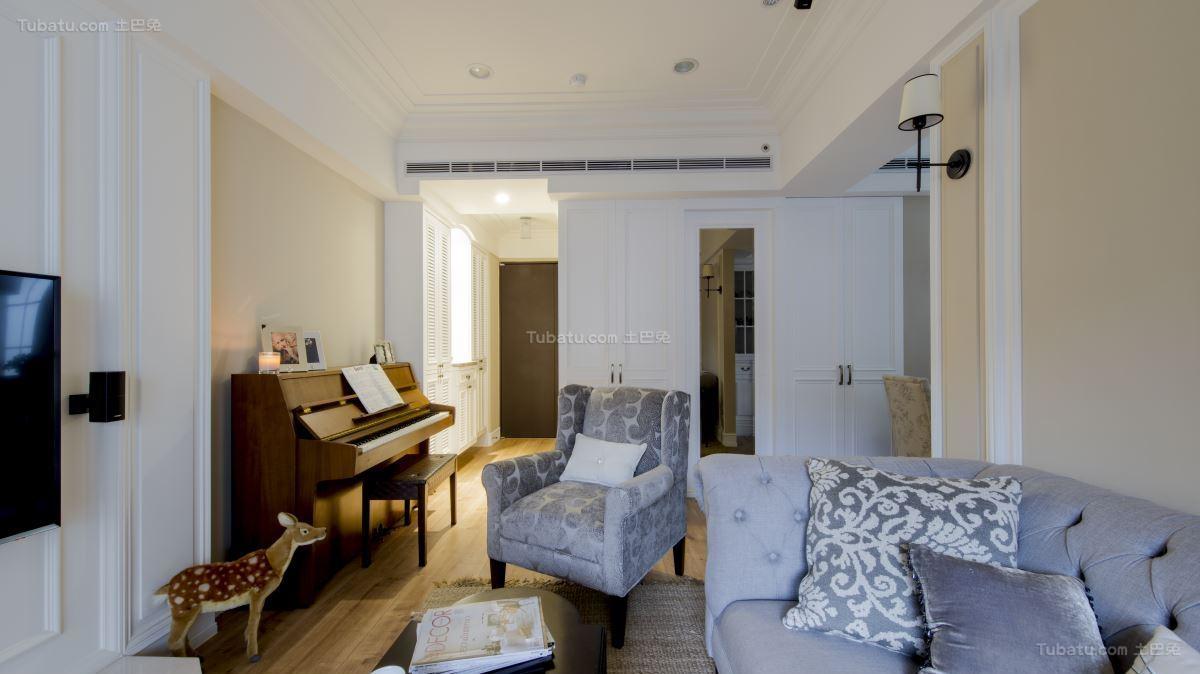清新美式风格三居室装修效果图