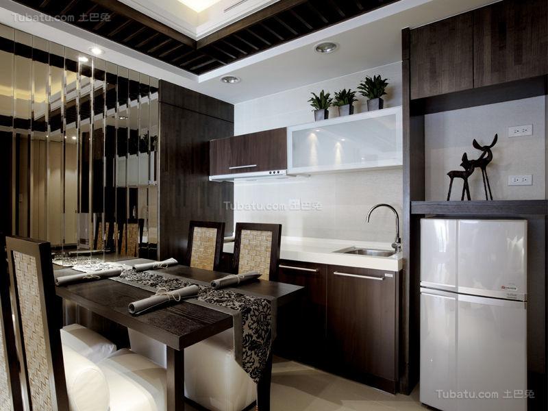 欧式华丽感开放式厨房装修图