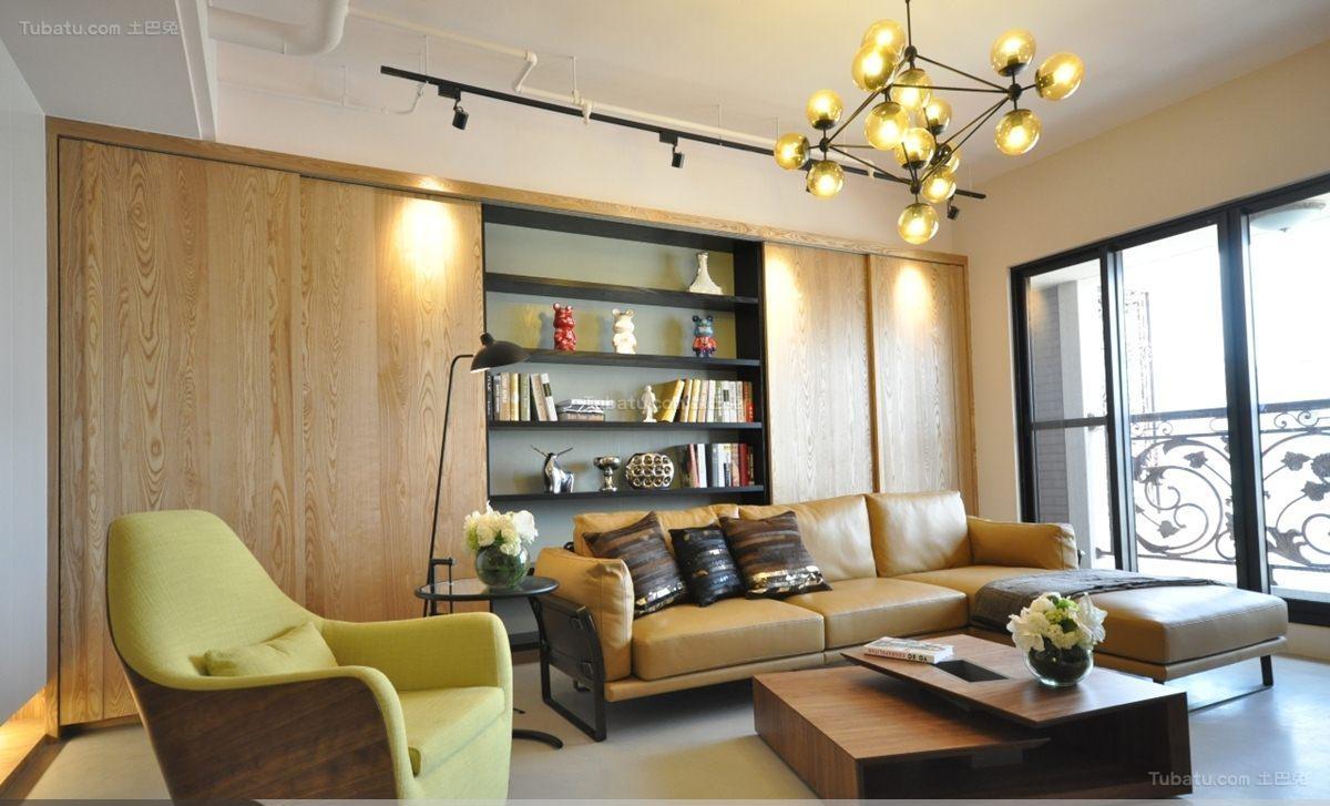 亮色调现代风格客厅装修效果图