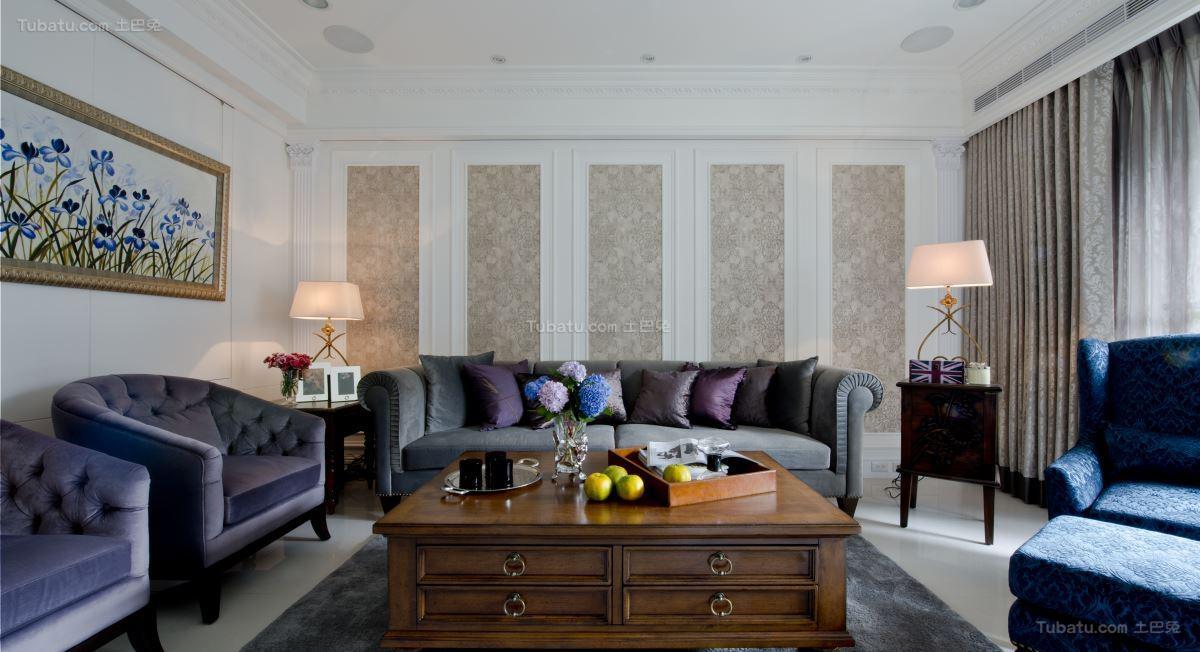 古典美式风格三居室装修效果图