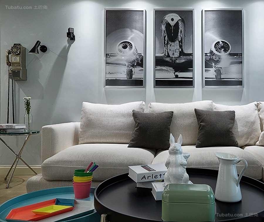 简约风艺术感三居室图片