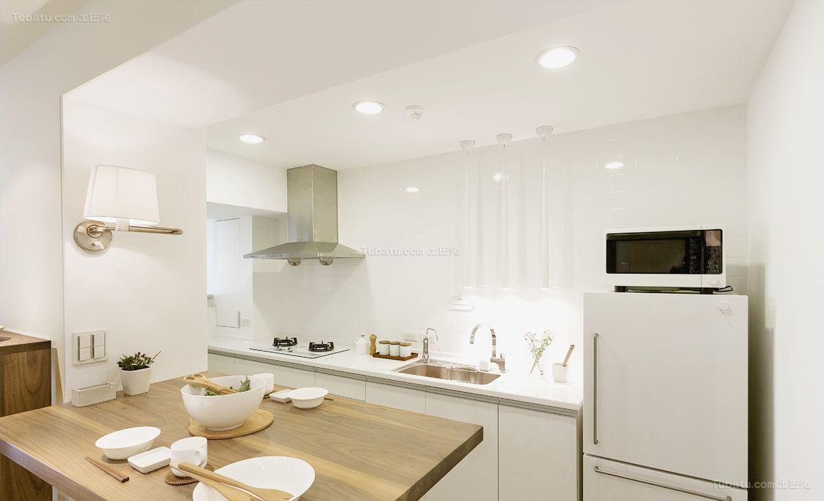 清新氧气系列简约风格厨房装修效果图