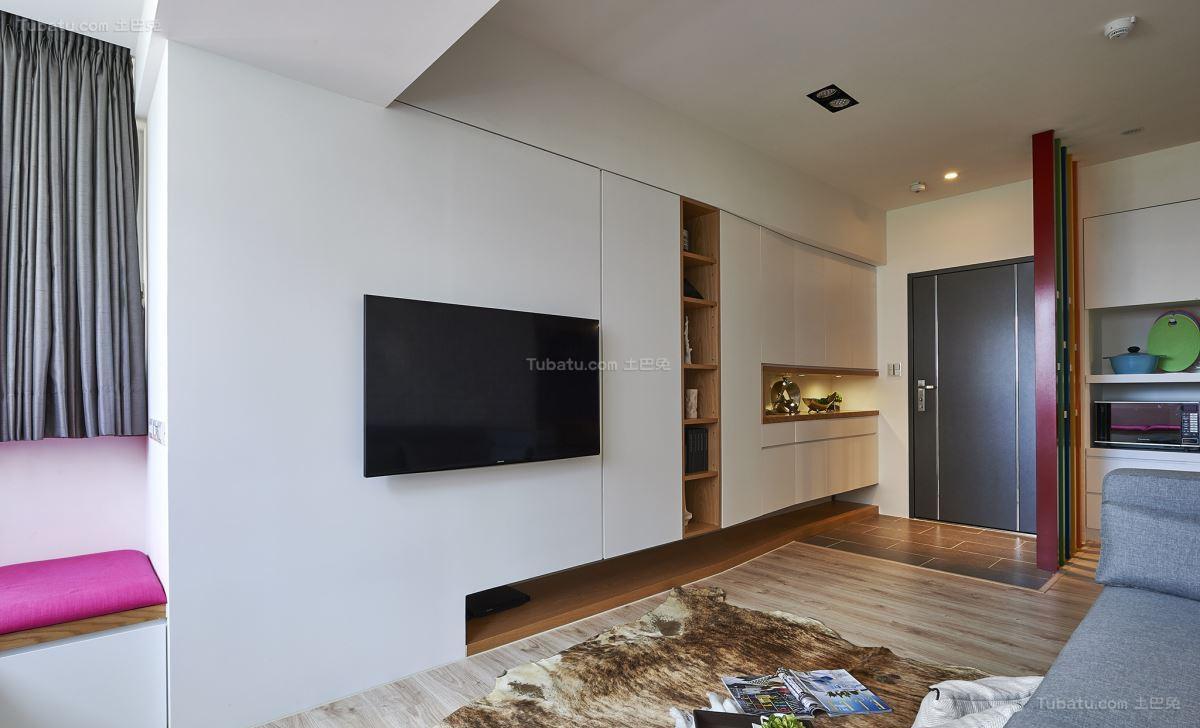 温馨简洁北欧风格电视背景墙装修效果图