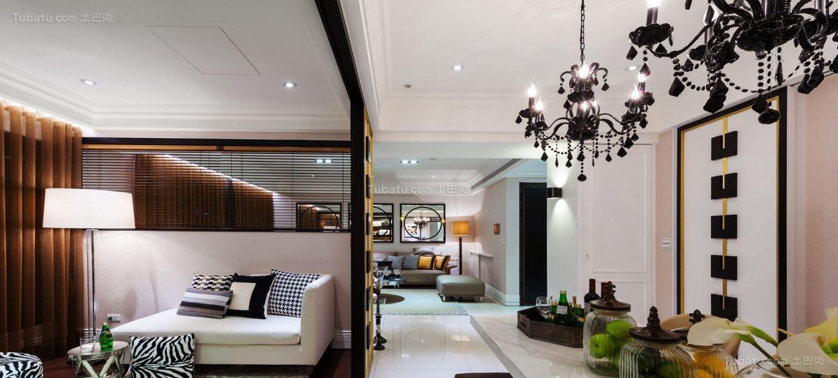 奢华精致新古典风格三居室装修效果图