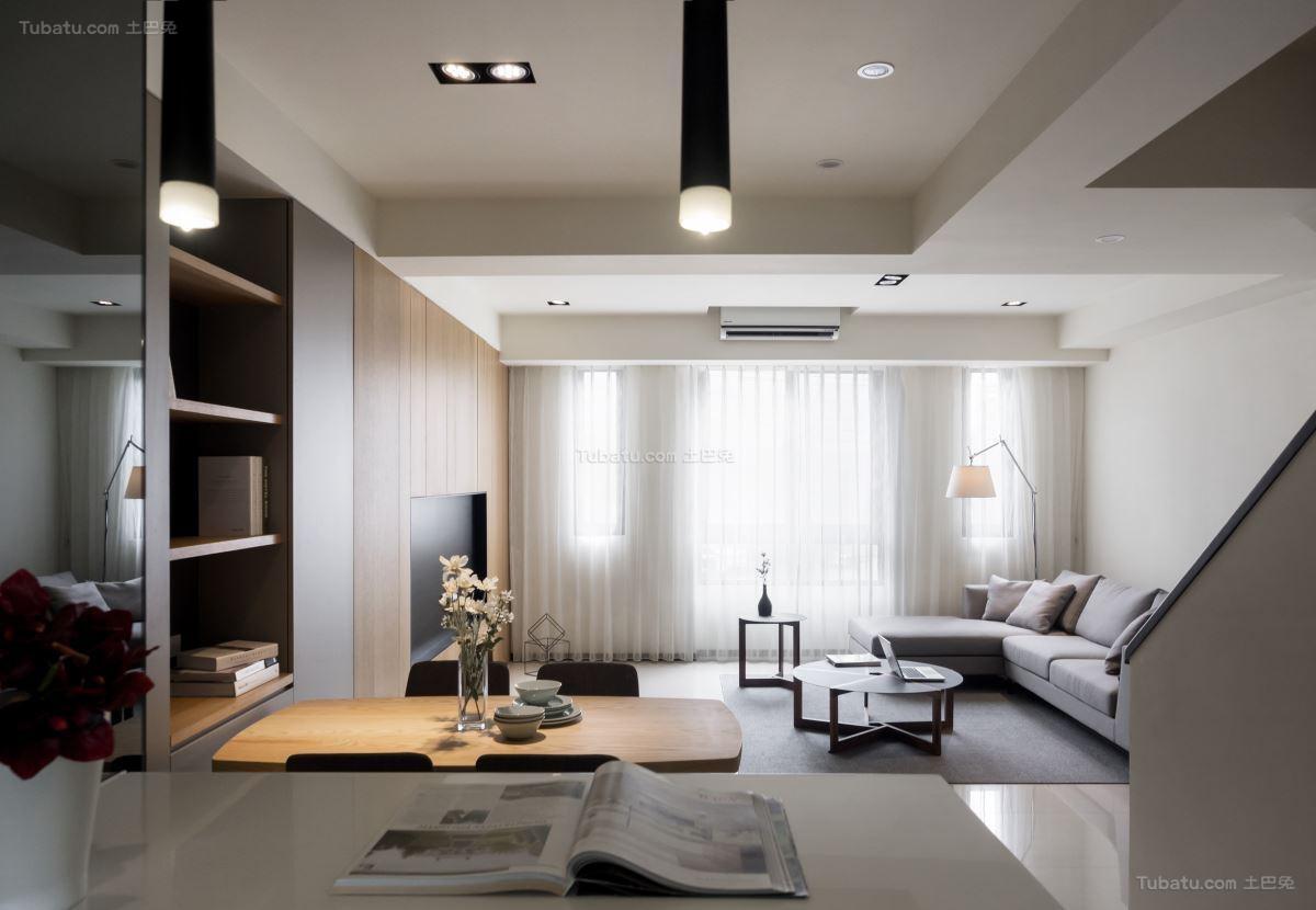 清新雅致简约风格二居室装修效果图