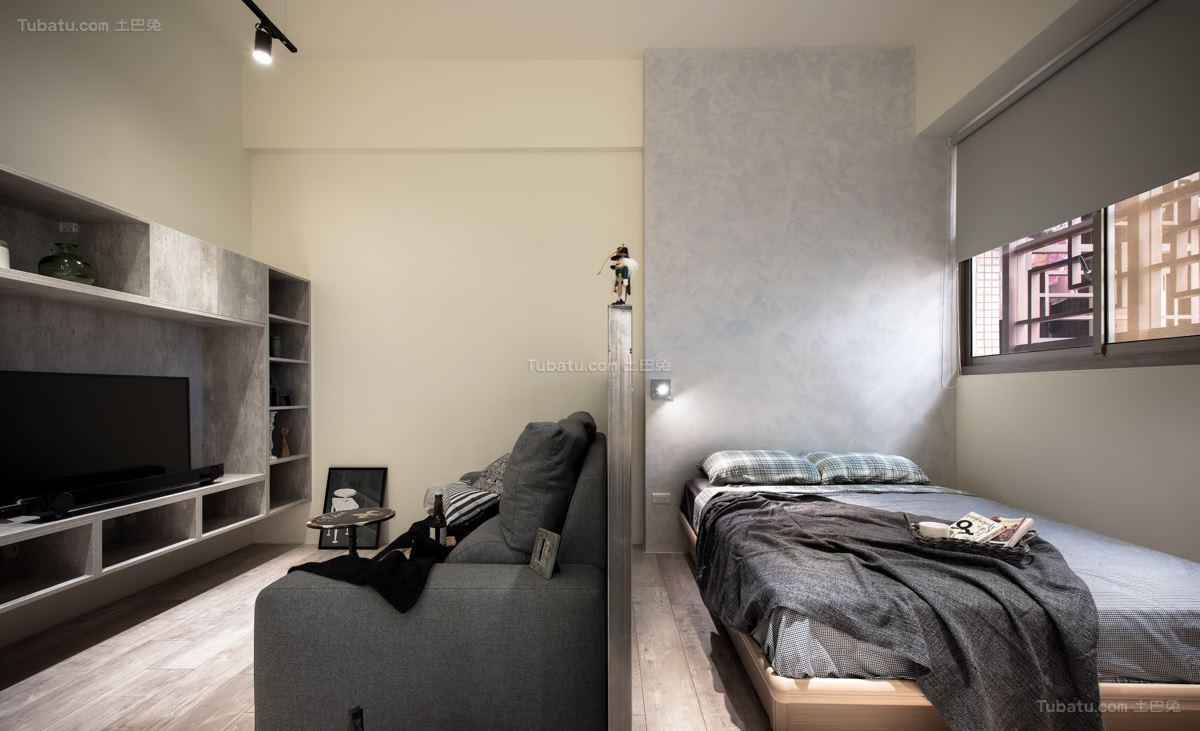 现代轻工业风单身公寓装修效果图