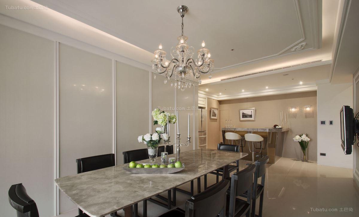 典雅浪漫的新古典风格餐厅装修效果图