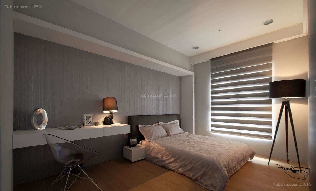 典雅浪漫的新古典风格小卧室装修效果图