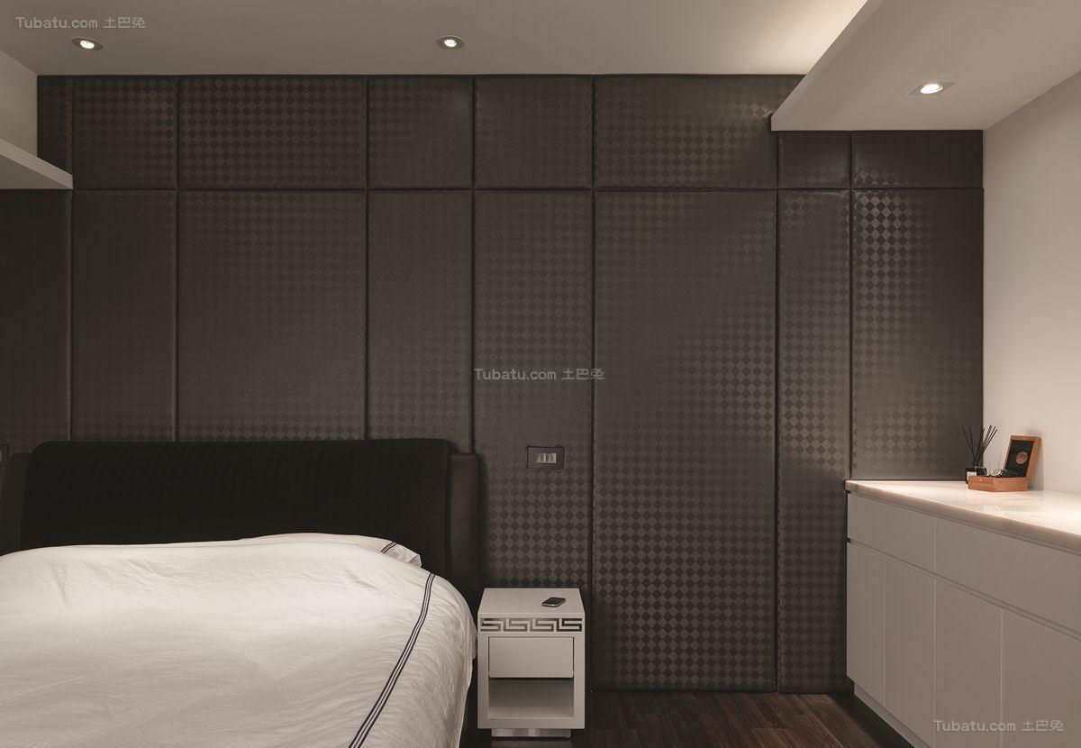 酷感时尚现代化卧室床头柜装修效果图