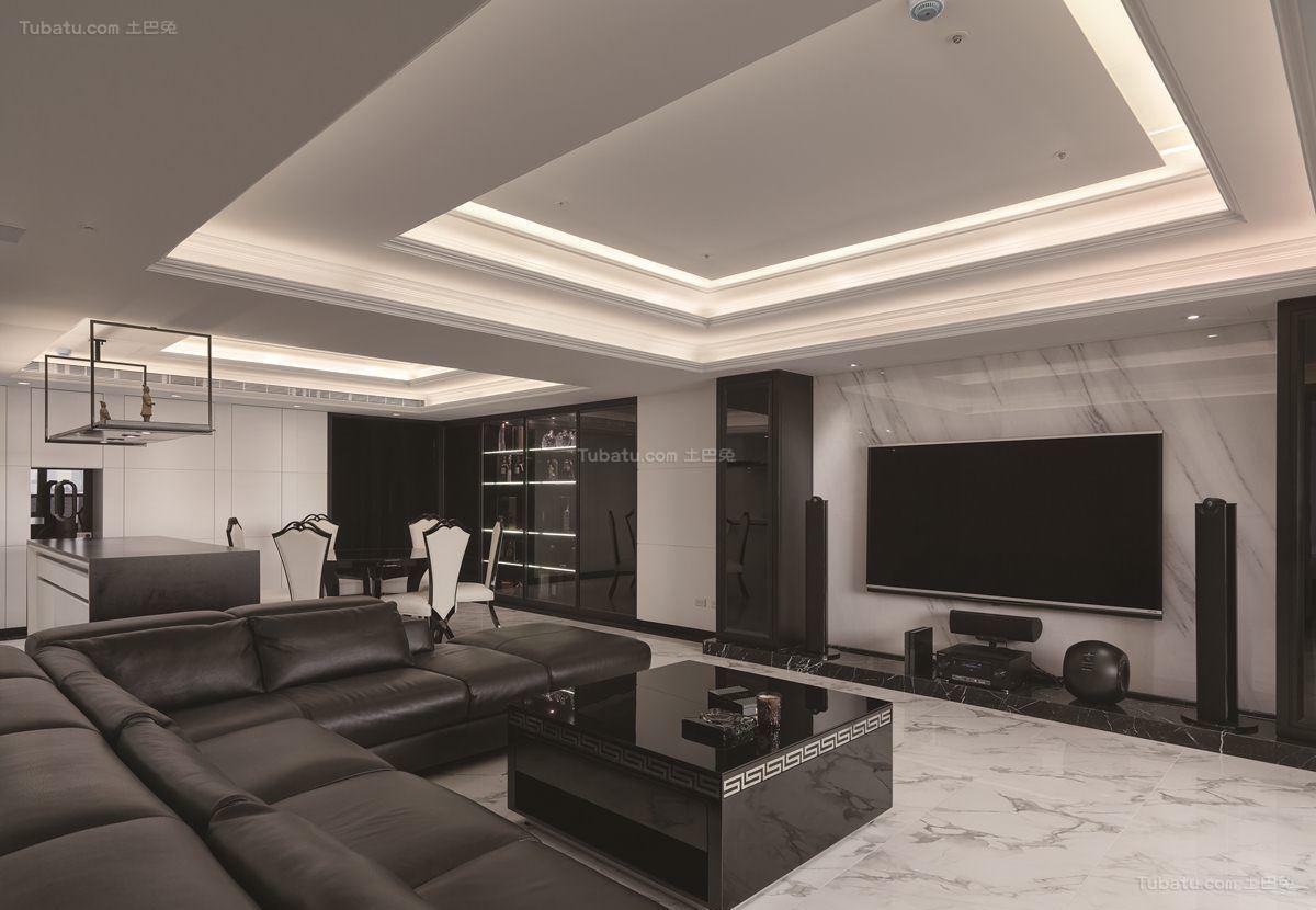 酷感时尚现代化三居装修效果图
