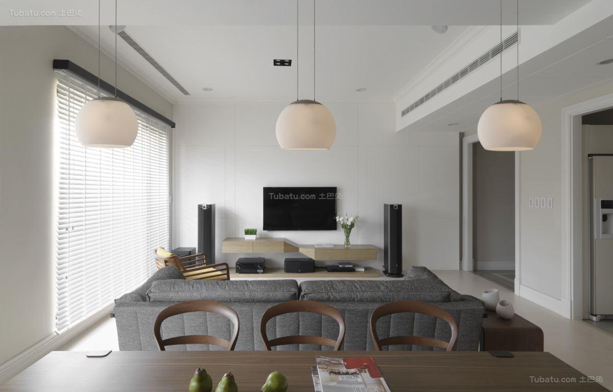 休闲雅致简约风格三居室装修效果图