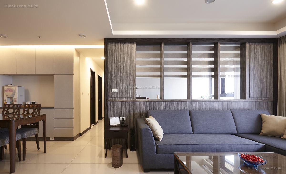 时尚潮流现代风格三居室装修效果图
