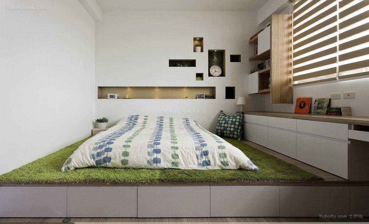 温馨休闲风日式小卧室装修效果图
