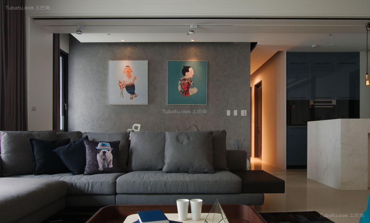 热门93平米三居现代装修图片欣赏