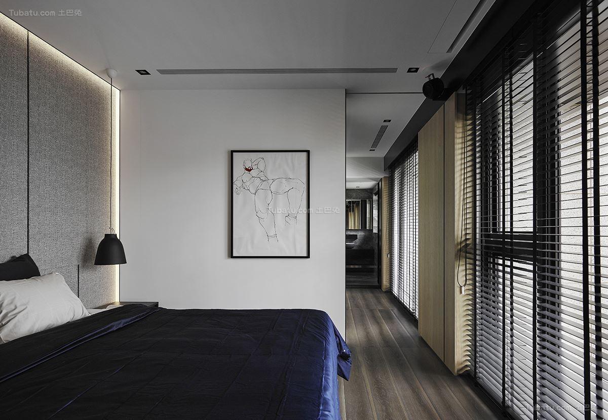 现代风豪华质感卧室装修效果图