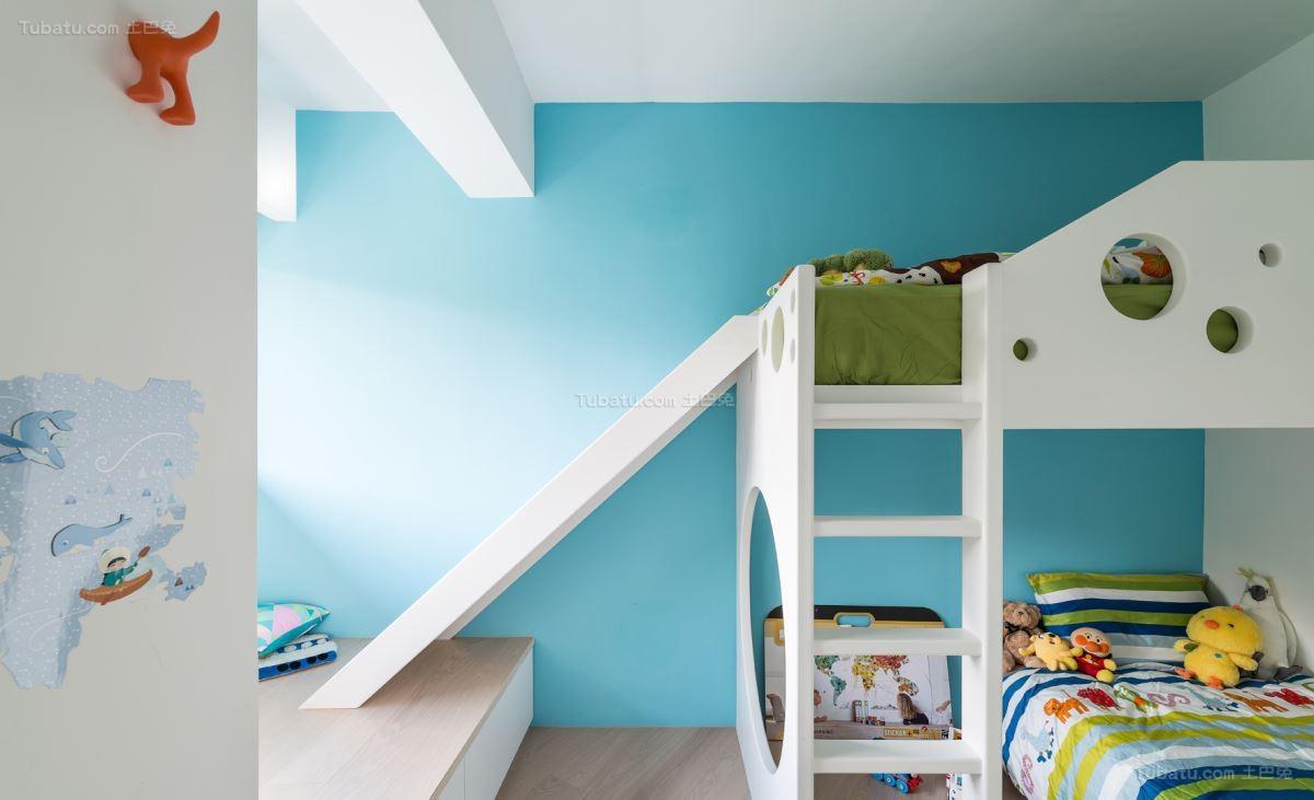 清新时尚的北欧风格儿童房装修效果图