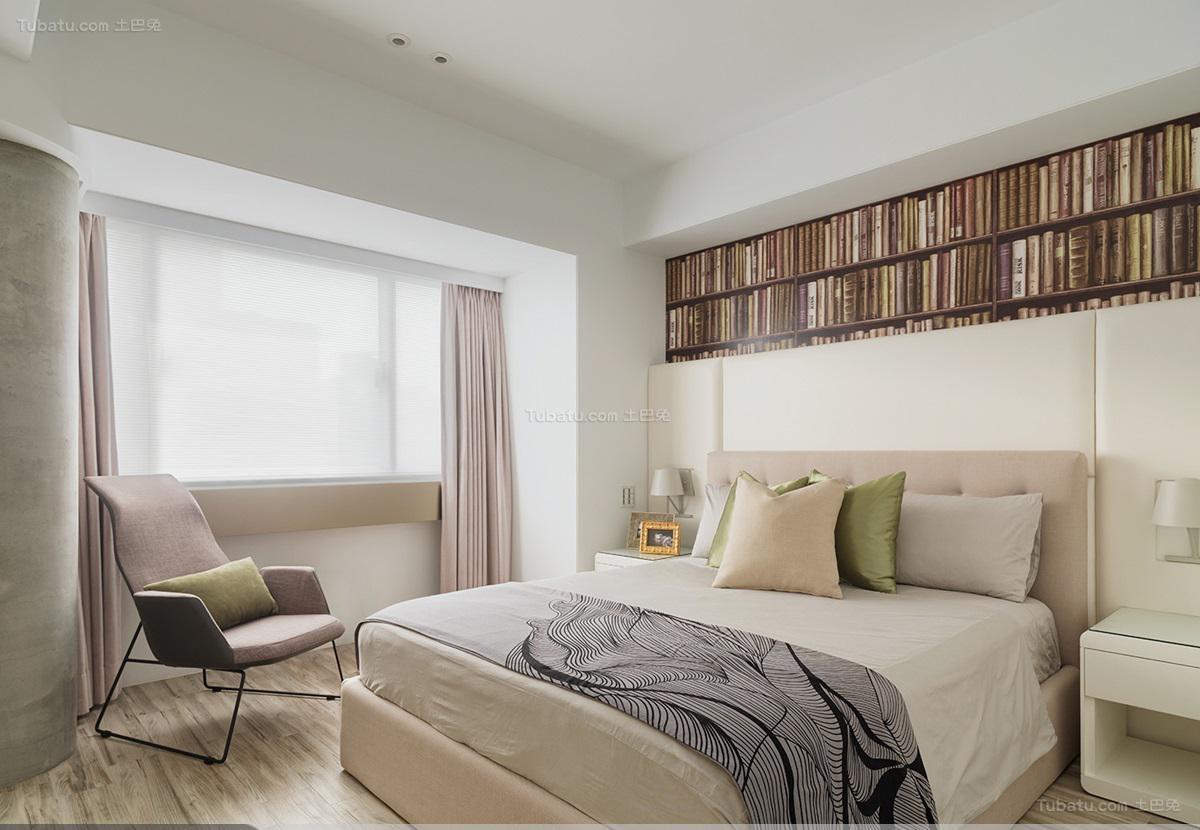 清爽舒适现代风格卧室装修效果图