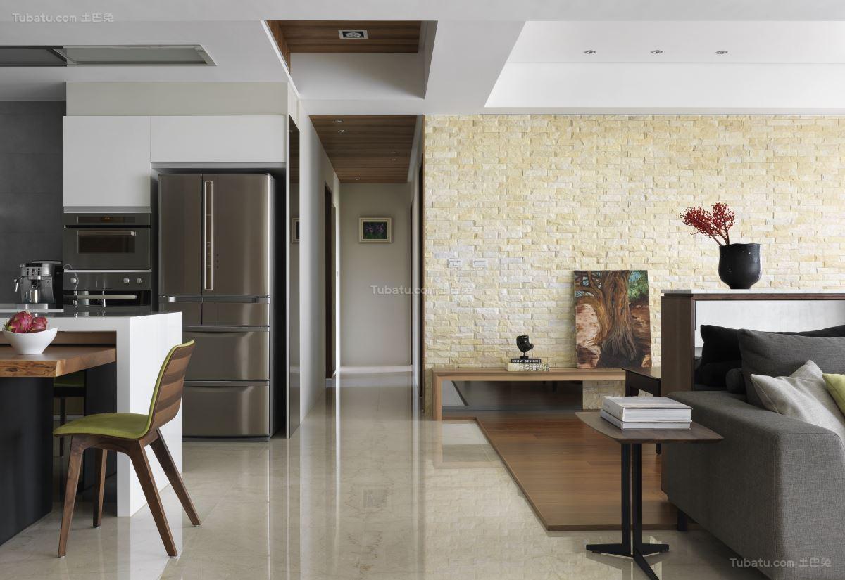 素雅精致现代风格二居室装修效果图