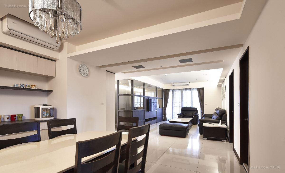 典雅质朴的中式风格四居室装修效果图