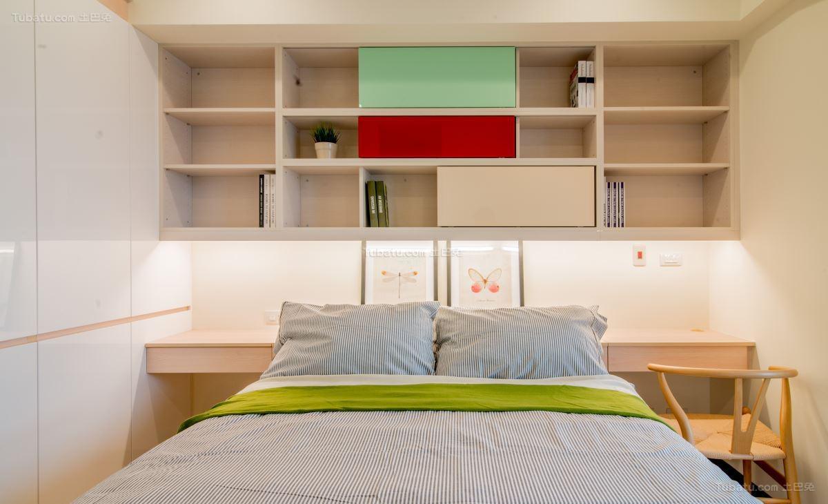 清新优雅的北欧风卧室装修效果图