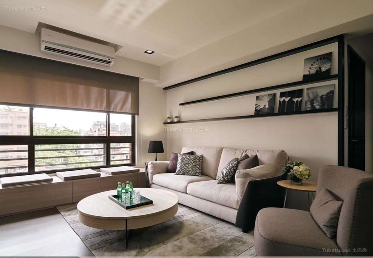 休闲舒适简约风格二居室装修效果图