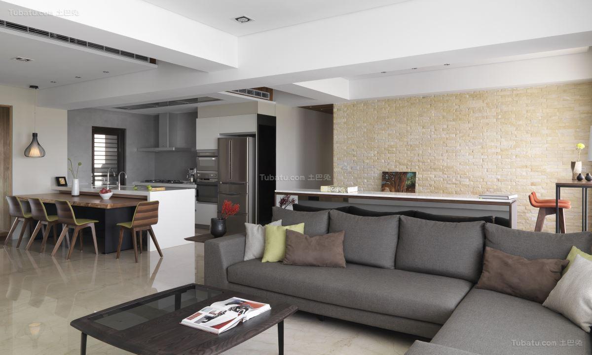 素雅精致现代风格客厅装修效果图