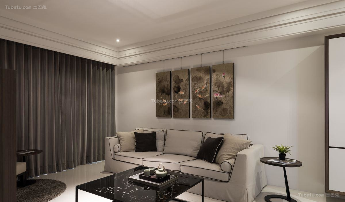 现代质感客厅装修效果图