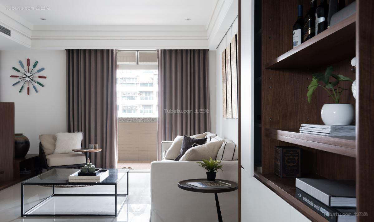 现代质感二居室装修效果图