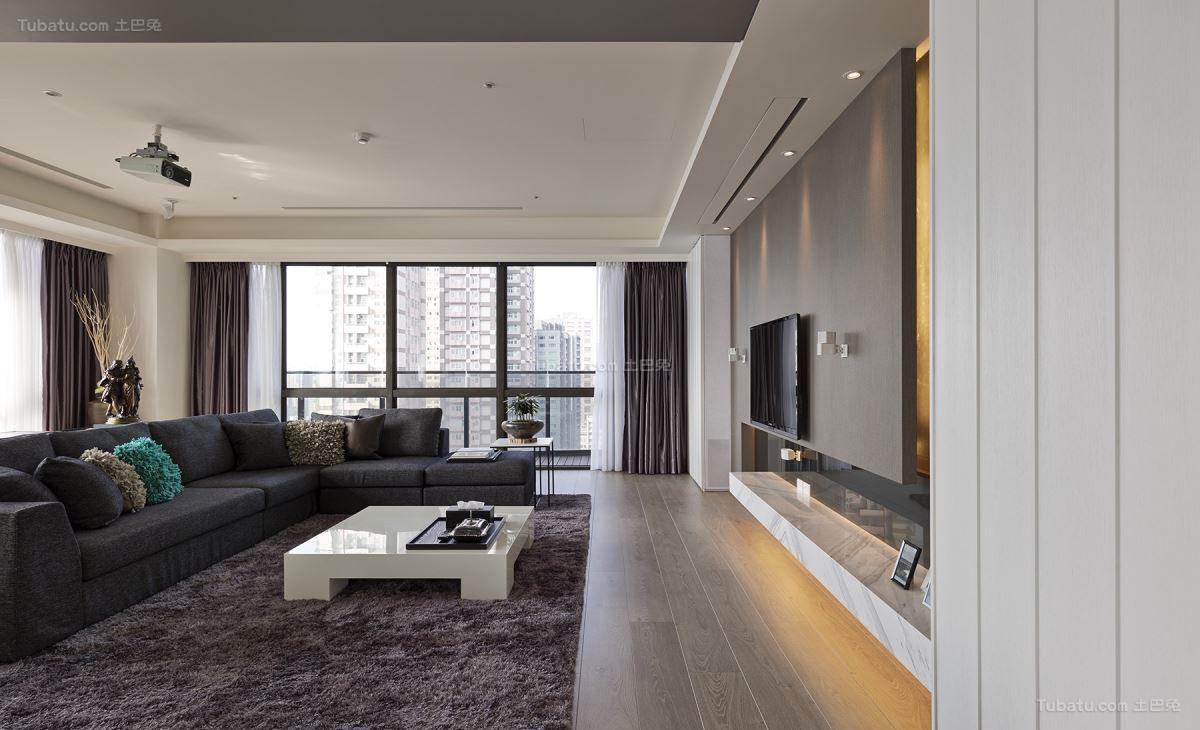 现代低调奢华客厅装修效果图
