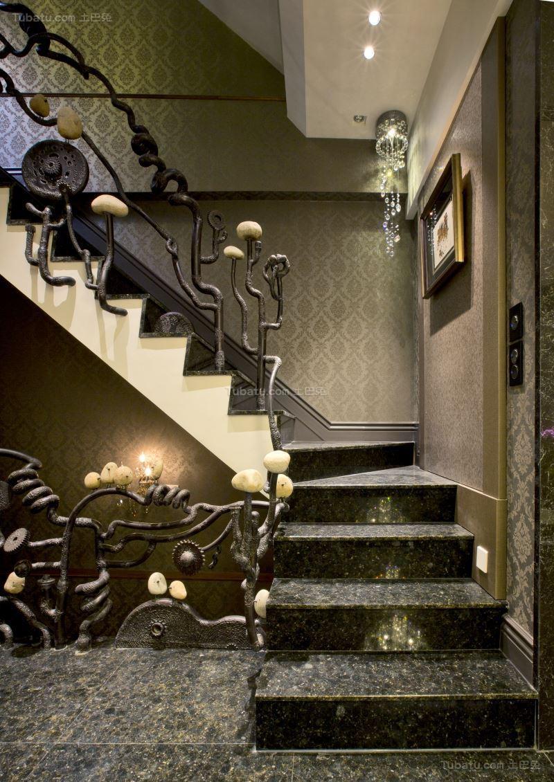 极致奢华新古典风楼梯装修效果图