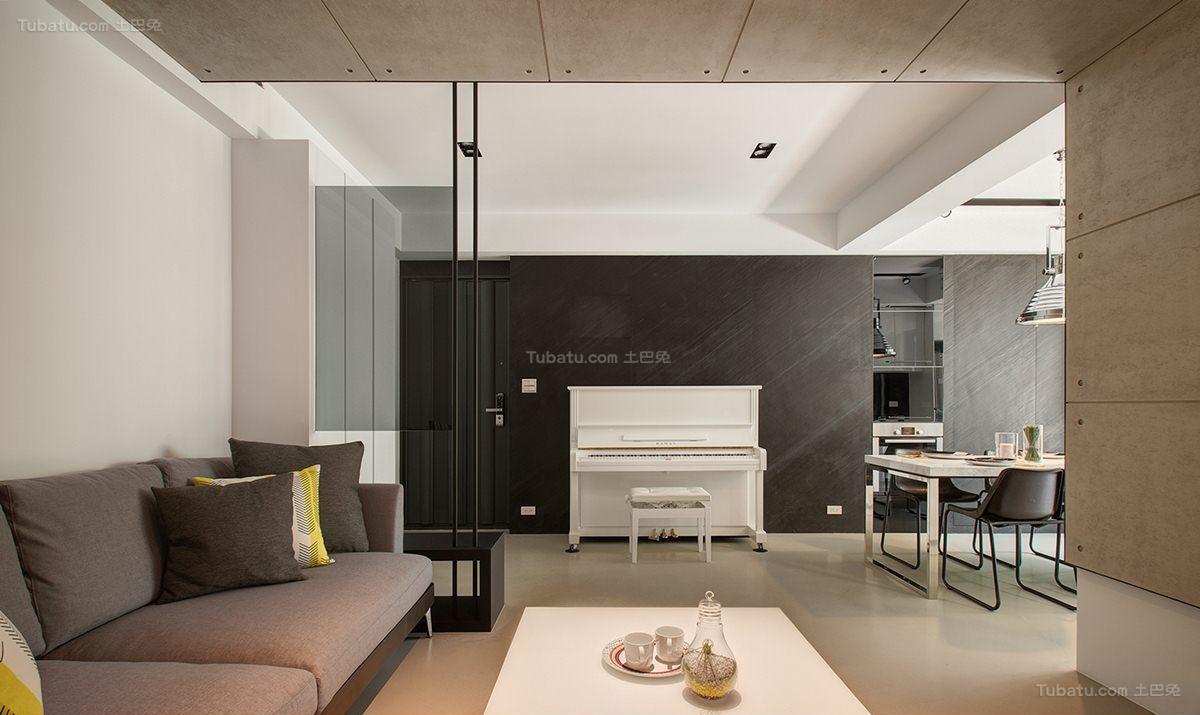 时尚现代清新风二居室装修效果图