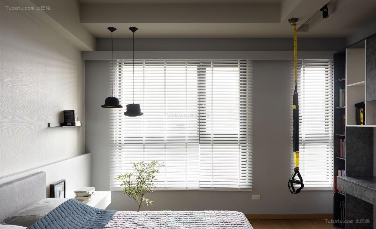 时尚休闲现代风格窗帘装修效果图