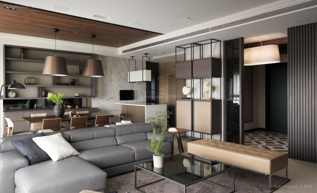 时尚休闲现代风格三居室装修效果图