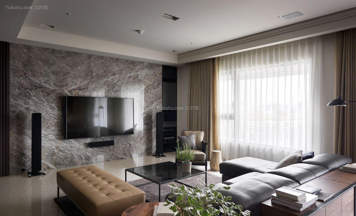 时尚休闲现代风格电视背景墙装修效果图