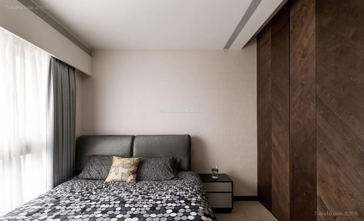 暗黑色系超酷现代风卧室装修效果图