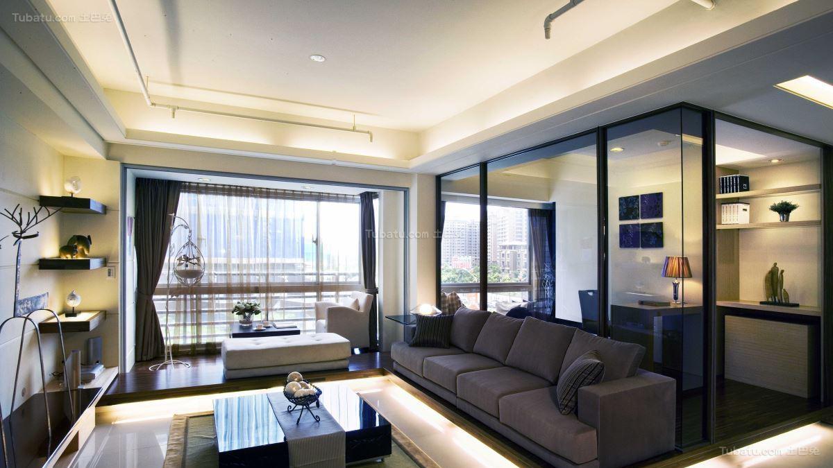 现代风品质享受二居室图片