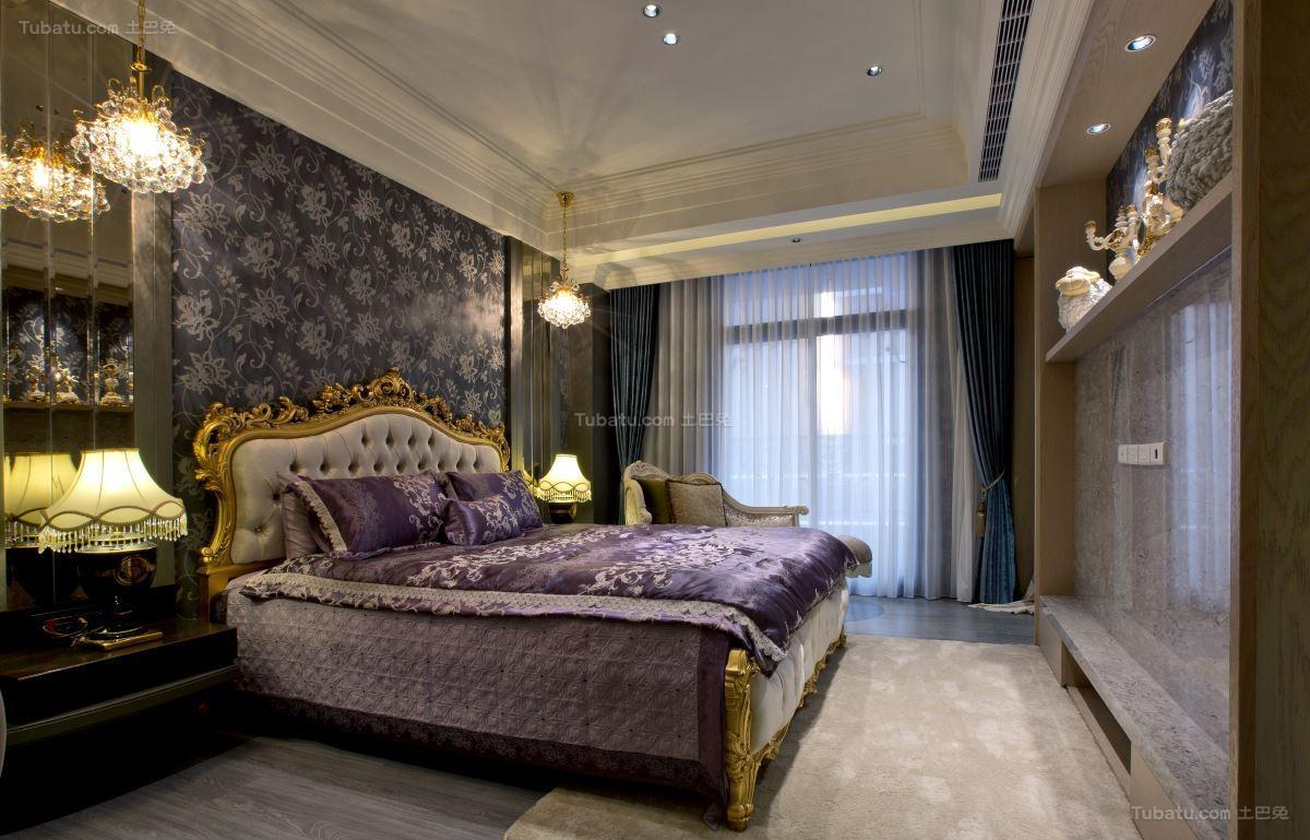 极致奢华新古典风卧室装修效果图