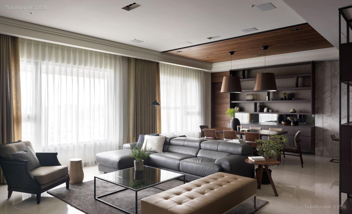 时尚休闲现代风格的客厅装修效果图