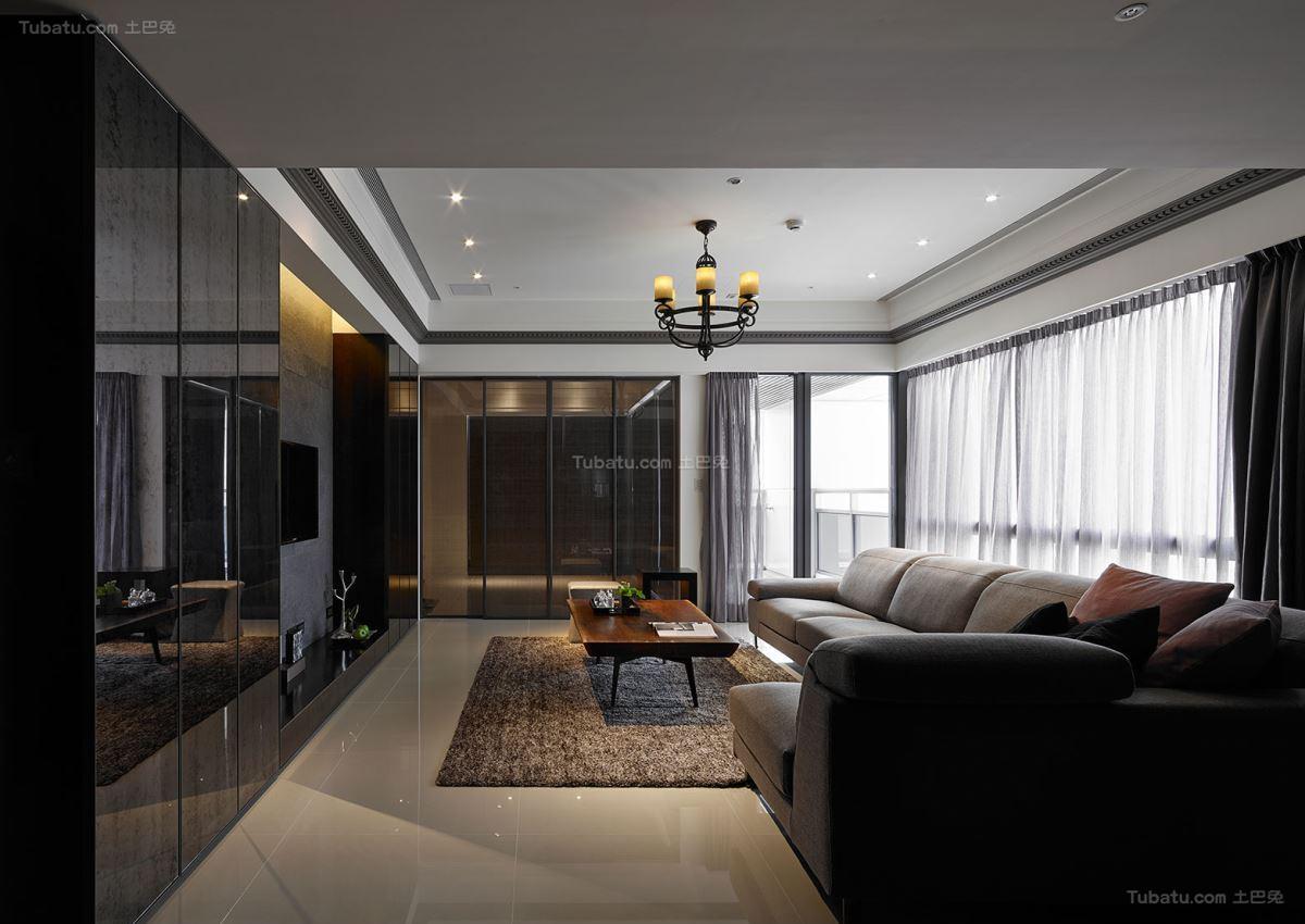 惬意休闲现代风格客厅装修效果图