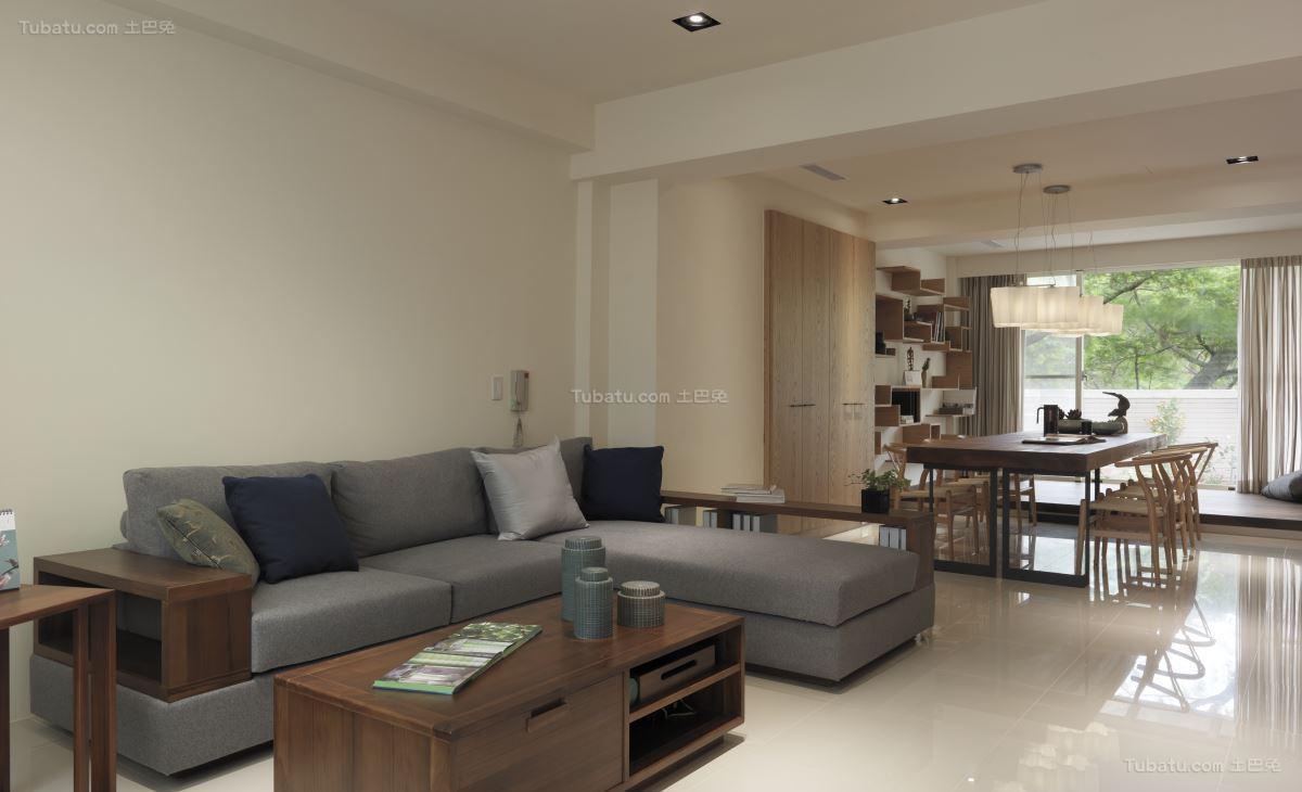 轻松休闲的中式二居室装修效果图